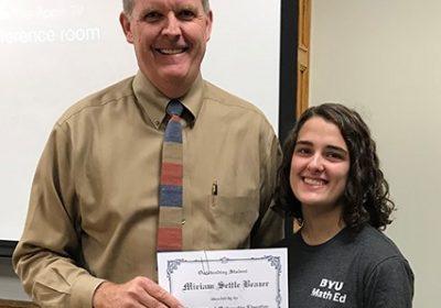 Congratulations to Miriam Beazer!